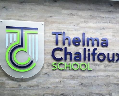 Thelma Chalifoux School 3d wall Sign